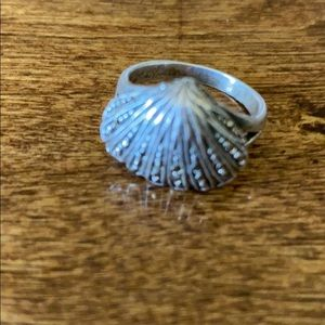 Sterling silver and Marcasites stone vintage ring